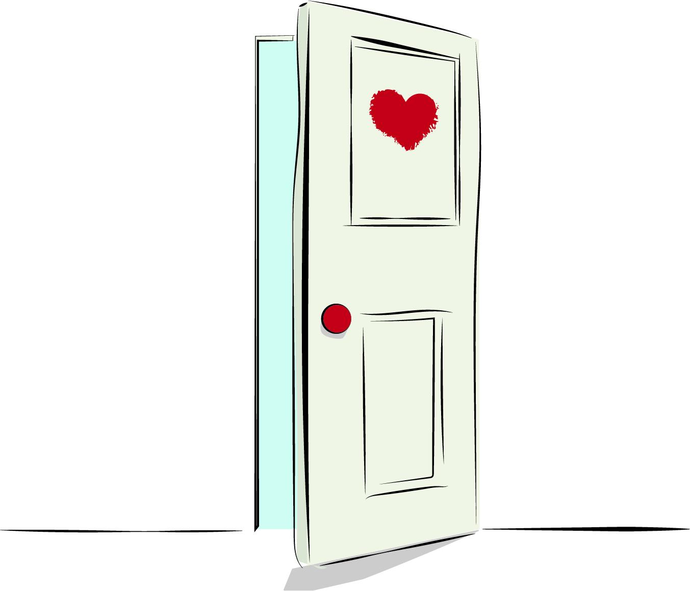 bild på färgmärkt dörr