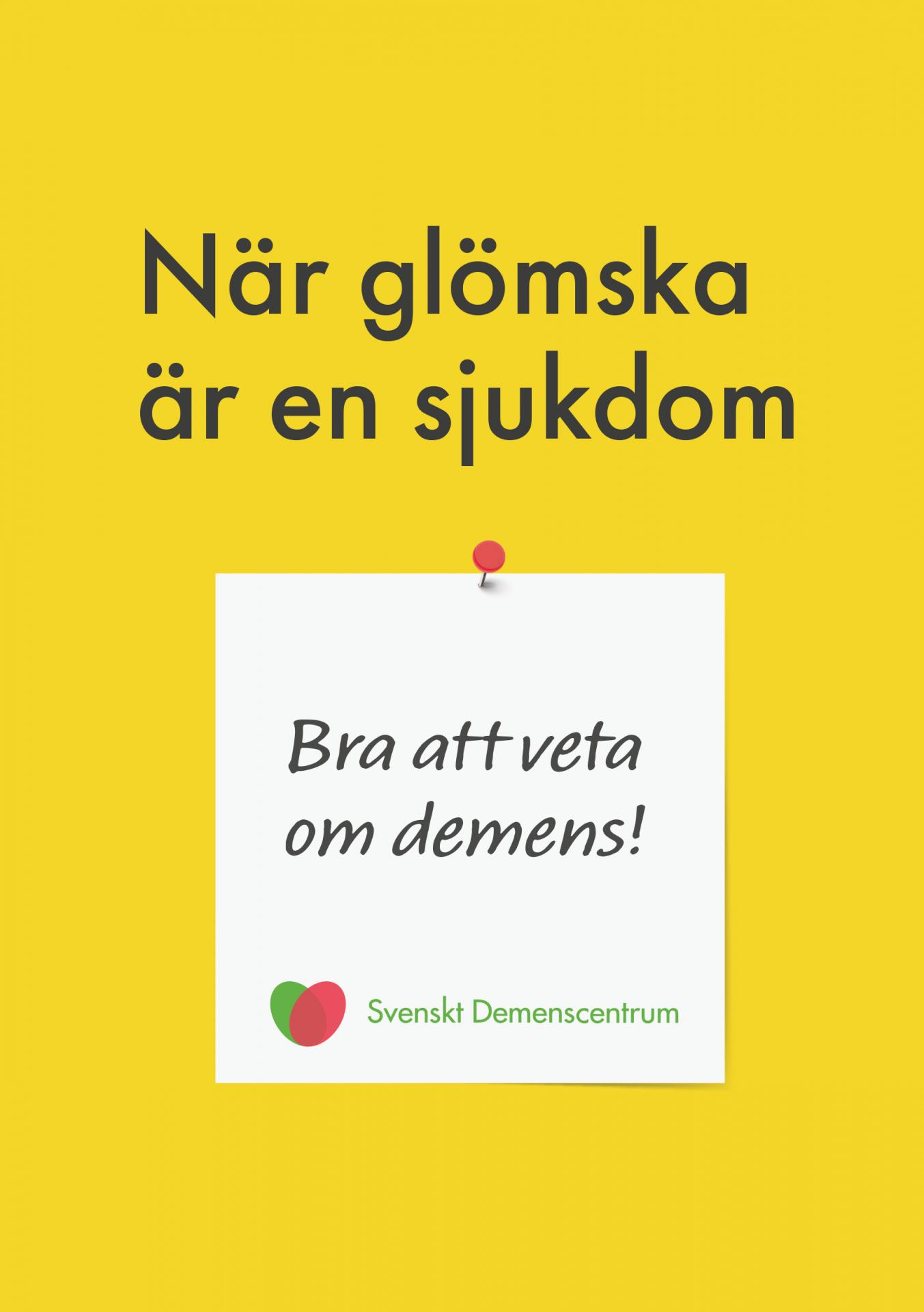 Omslag Om demenssjukdom för primärvården